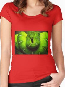 Wild nature - green snake Women's Fitted Scoop T-Shirt