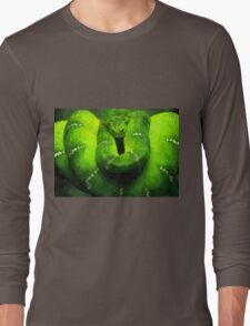 Wild nature - green snake Long Sleeve T-Shirt