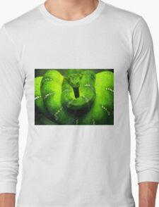 Wild nature - green snake Long Sleeve T-Shirt