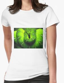 Wild nature - green snake Womens Fitted T-Shirt