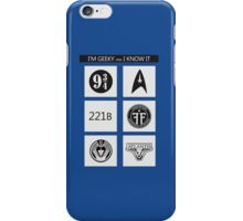 GEEKY POLICE BOX 2 iPhone Case/Skin