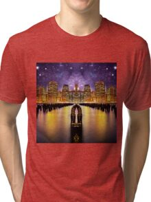 Space sky New York Tri-blend T-Shirt