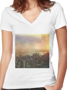 NYC 2 Women's Fitted V-Neck T-Shirt