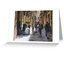 Barcelona Street Sketch Greeting Card
