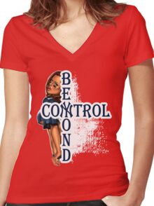 NY Beyond Control  Women's Fitted V-Neck T-Shirt