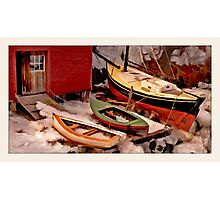 Winter Landing, Georgetown, Maine Photographic Print