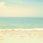 Mint Pastel Pale Blue Beach  by Andreka