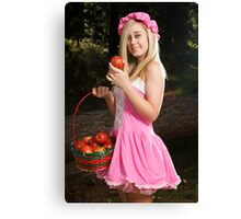 Do you want to taste my apple! Canvas Print
