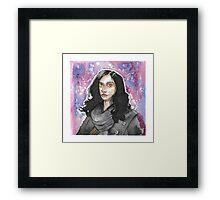 Jessica Jones Watercolor Framed Print