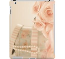 Pink Roses and Pearls  iPad Case/Skin