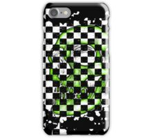 Skull checkered pattern 2 iPhone Case/Skin
