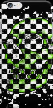 Skull checkered pattern 2 by MrBliss4