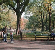 Music in Central Park by John Lines