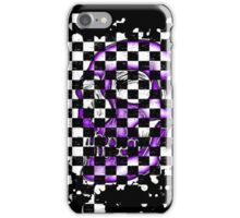 Skull checkered pattern 3 iPhone Case/Skin