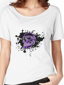 Purple Glow Skull Women's Relaxed Fit T-Shirt