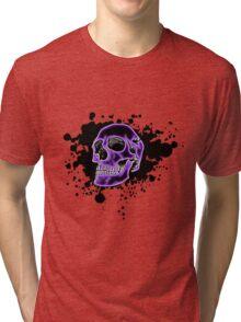 Purple Glow Skull Tri-blend T-Shirt