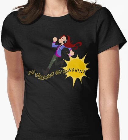 Charlie Bradbury - I'm walking on sunshine Womens Fitted T-Shirt