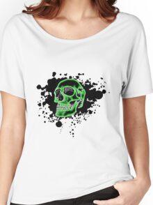 Green Skull Glow Women's Relaxed Fit T-Shirt