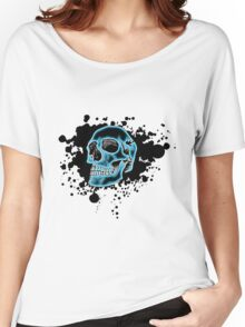 Blue Glow Skull Women's Relaxed Fit T-Shirt