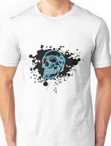 Blue Glow Skull Unisex T-Shirt