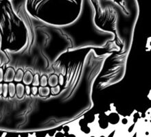 Black Skull Glow Sticker