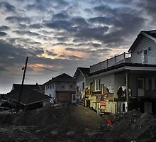 Hurricane Sandy in Bel Harbor, NY - Blackout days by Anton Oparin