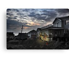 Hurricane Sandy in Bel Harbor, NY - Blackout days Canvas Print