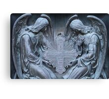 two archangel with cross Canvas Print