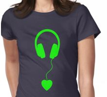 love music green Womens Fitted T-Shirt