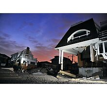 Hurricane Sandy in Bel Harbor, NY - Blackout days Photographic Print