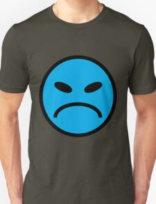 angry face blue T-Shirt