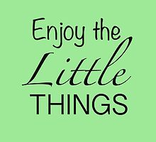 Enjoy the little things - mint green Iphone case  by sullat04