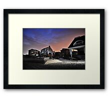 Hurricane Sandy in Bel Harbor, NY - Blackout days 3 Framed Print