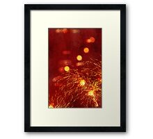 Fired up lights Framed Print
