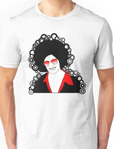 afro man red Unisex T-Shirt