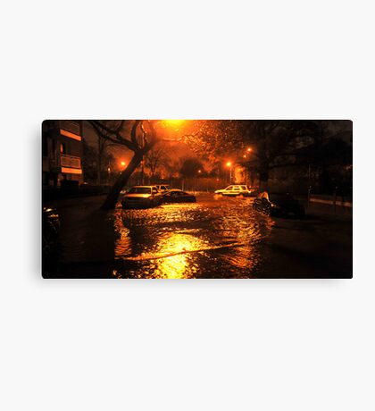 Hurricane Sandy in Brooklyn NY - 11pm, October 29, 2012 Canvas Print