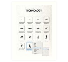 99 Steps of Progress - Technology Art Print