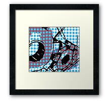 Pin up polka dot girl gear reel  Framed Print