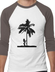 palm woman Men's Baseball ¾ T-Shirt