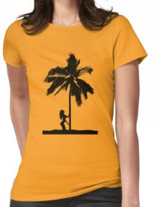palm woman Womens Fitted T-Shirt