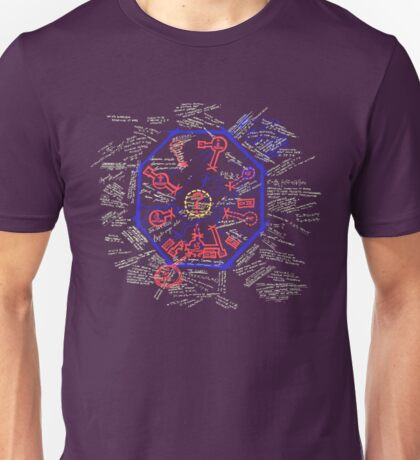 LOST Swan Station Blast Door Map Unisex T-Shirt
