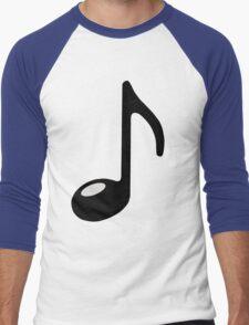 black note Men's Baseball ¾ T-Shirt