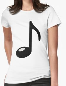 black note Womens Fitted T-Shirt