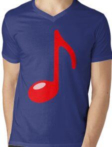 red note Mens V-Neck T-Shirt