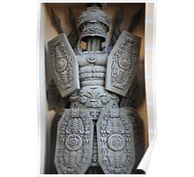 warrior antique military armor Poster