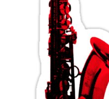 red saxophone Sticker