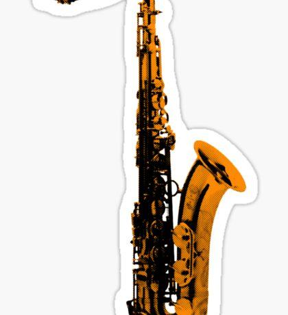 gold saxophone Sticker