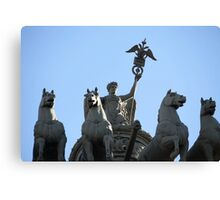 Nike on the triumphal chariot Canvas Print