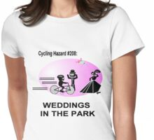 Cycling Hazard - Wedding in the park Womens Fitted T-Shirt