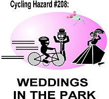Cycling Hazard - Wedding in the park Photographic Print